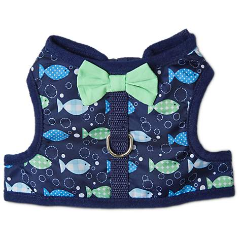 Bond & Co Fishy-Print Bow Tie Cat Harness