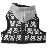 Bond & Co Skull and Bones Hooded Cat Harness