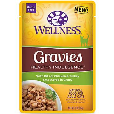 Wellness Healthy Indulgence Natural Grain Free Gravies with Chicken & Turkey in Gravy Wet Cat Food