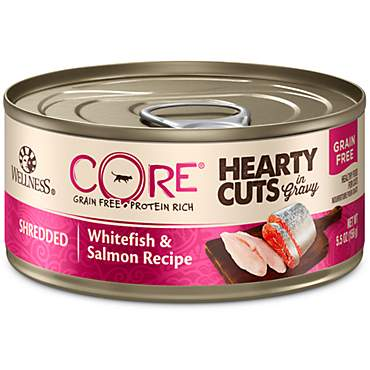 Wellness CORE Hearty Cuts Natural Grain Free Whitefish & Salmon Wet Cat Food