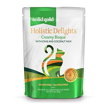 Solid Gold Holistic Delights Creamy Bisque Grain Free Wet Cat Food, Crab and Coconut Milk