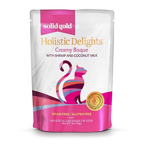 Solid Gold Holistic Delights Creamy Bisque Grain Free Wet Cat Food, Shrimp and Coconut Milk