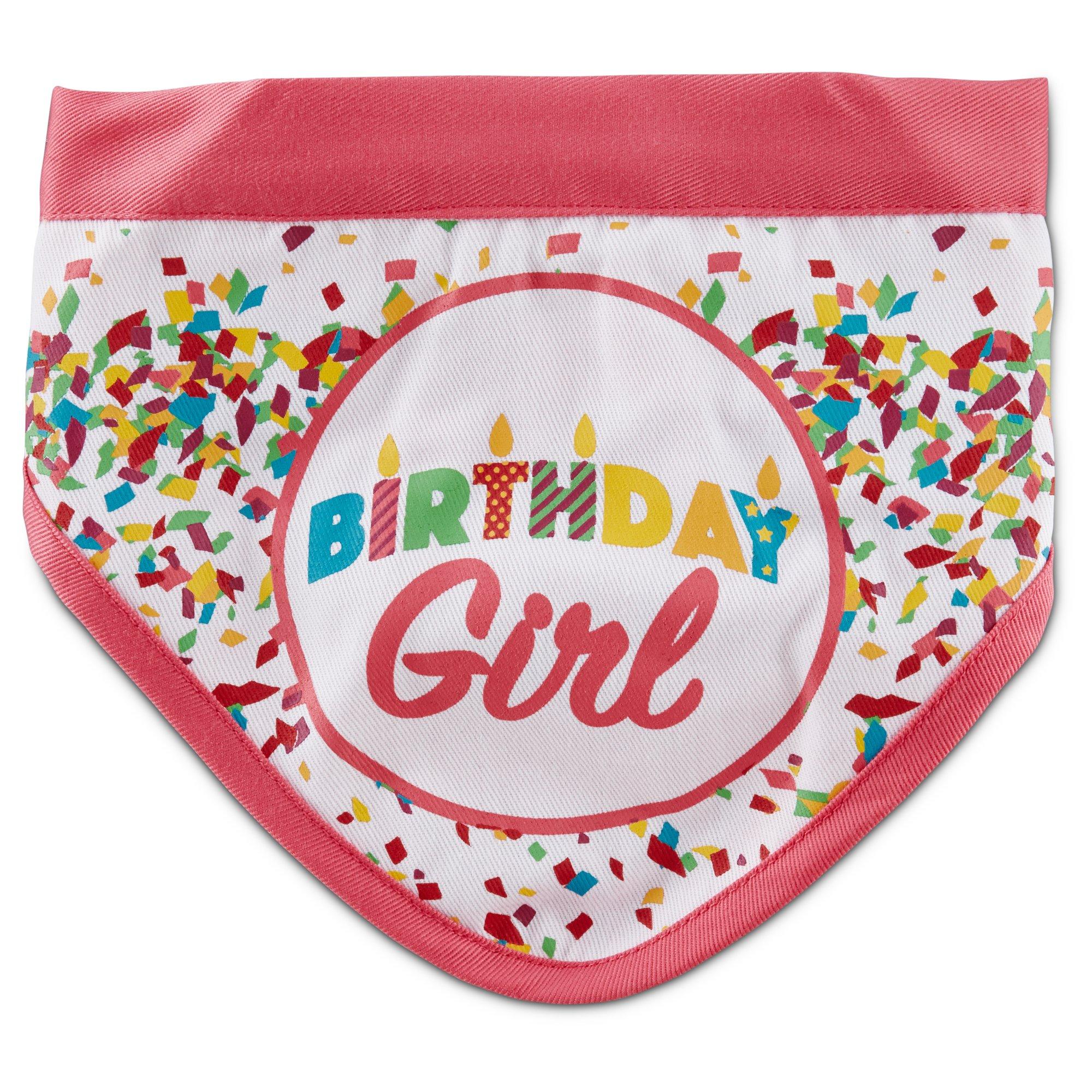 You Me Birthday Girl Dog Bandana