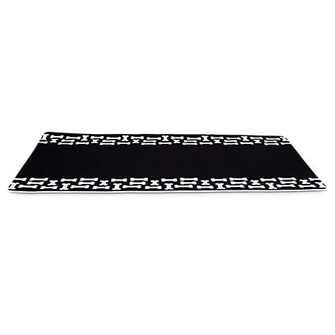 Bowlmates Black and White Bones Dog Placemat