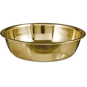 Bowlmates Stainless Steel with Gold Finish Dog Bowl