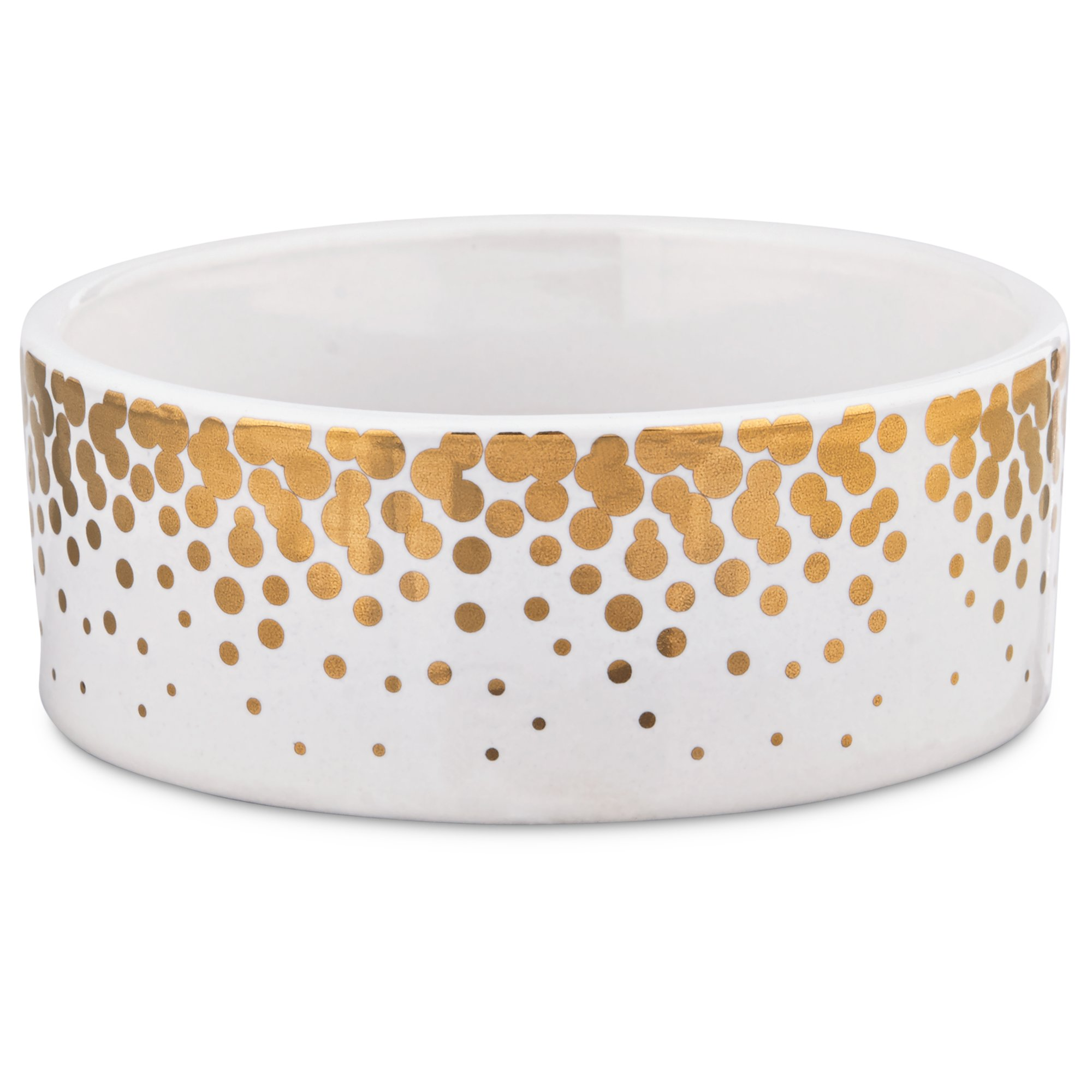 Harmony Gold Dots Ceramic Dog Bowl | Petco - photo#8