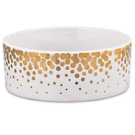 Harmony Gold Dots Ceramic Dog Bowl 1 Cup