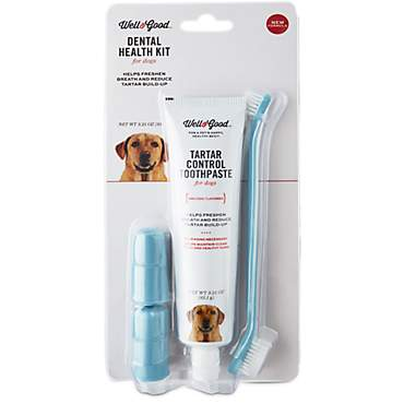 Well & Good Dental Health Kit for Dogs, Chicken Flavor