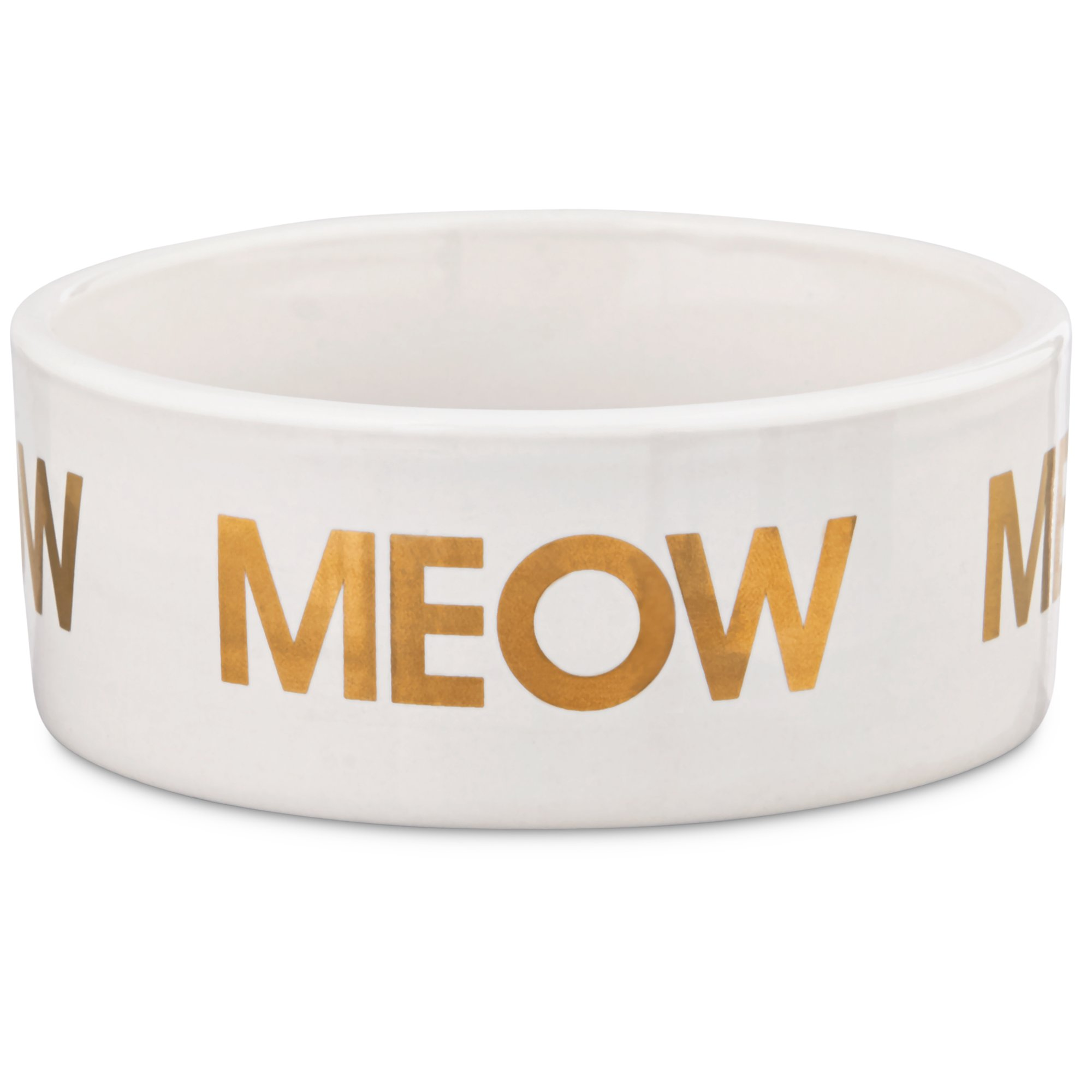 Harmony Meow Ceramic Cat Bowl Petco