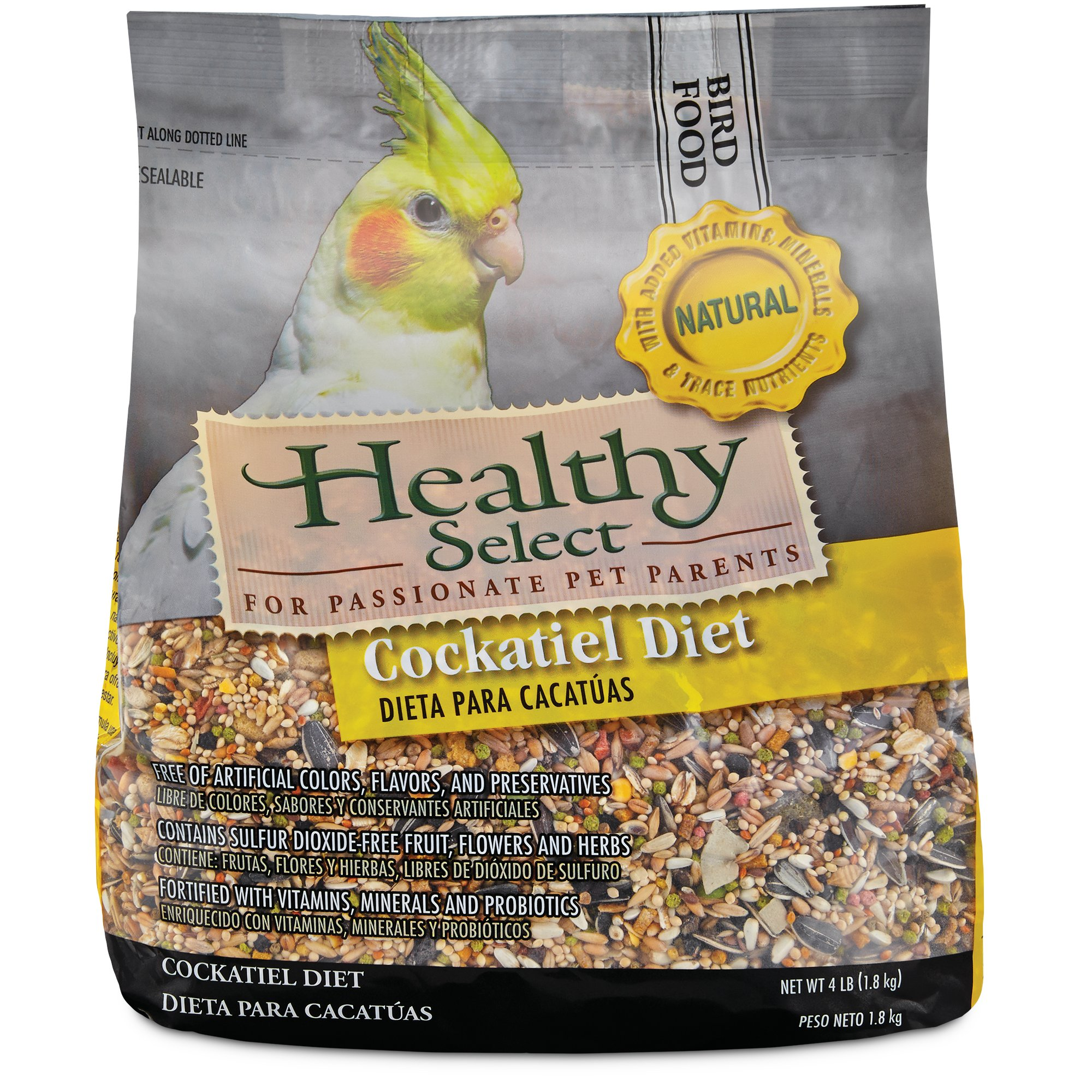 Healthy Select Natural Cockatiel Diet Petco