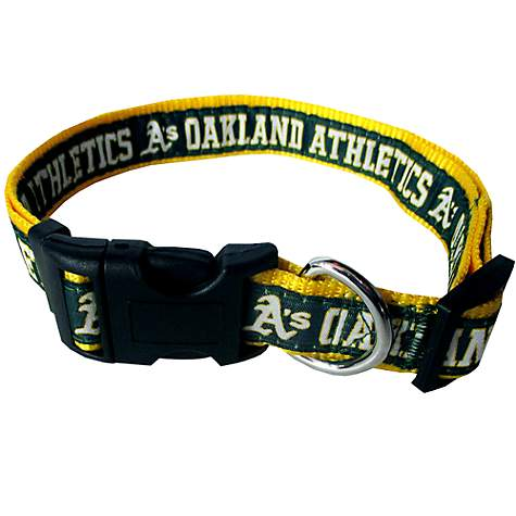 8a50bc223c8 Pets First Oakland Athletics MLB Dog Collar