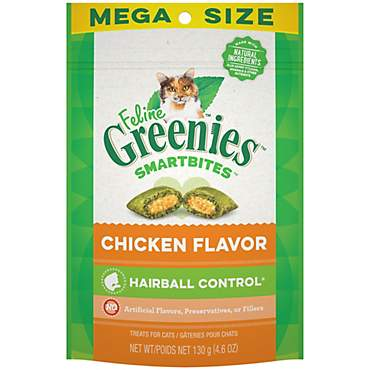 Feline Greenies Smartbites Chicken Flavored Hairball Control Cat Treats