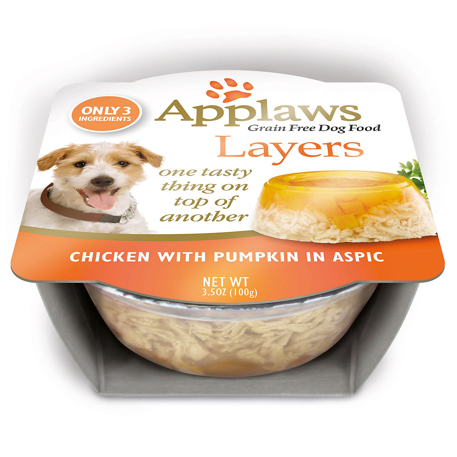 Applaws Limited Ingredient Layer Chicken With Pumpkin In Aspic Natural Dog Food, 3.5 Oz.