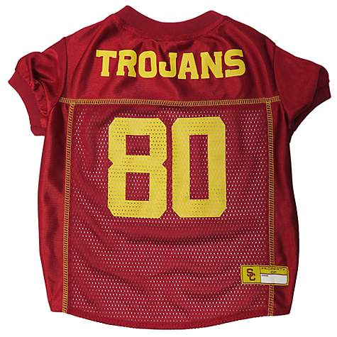 low priced 0be98 06dcc USC Trojans NCAA Mesh Jersey for Dogs, Medium