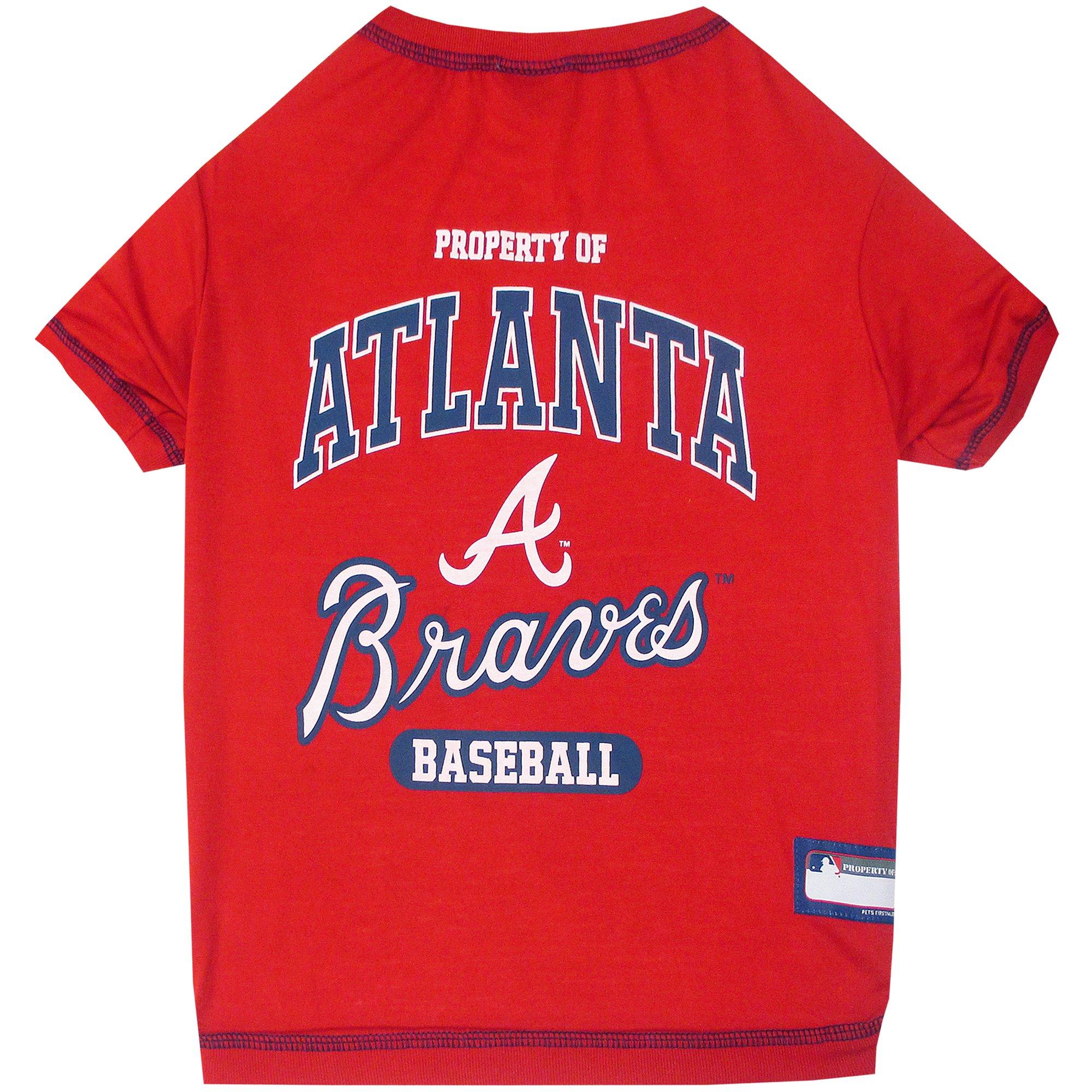 Image of Pets First Atlanta Braves T-Shirt, Medium, Multi-Color