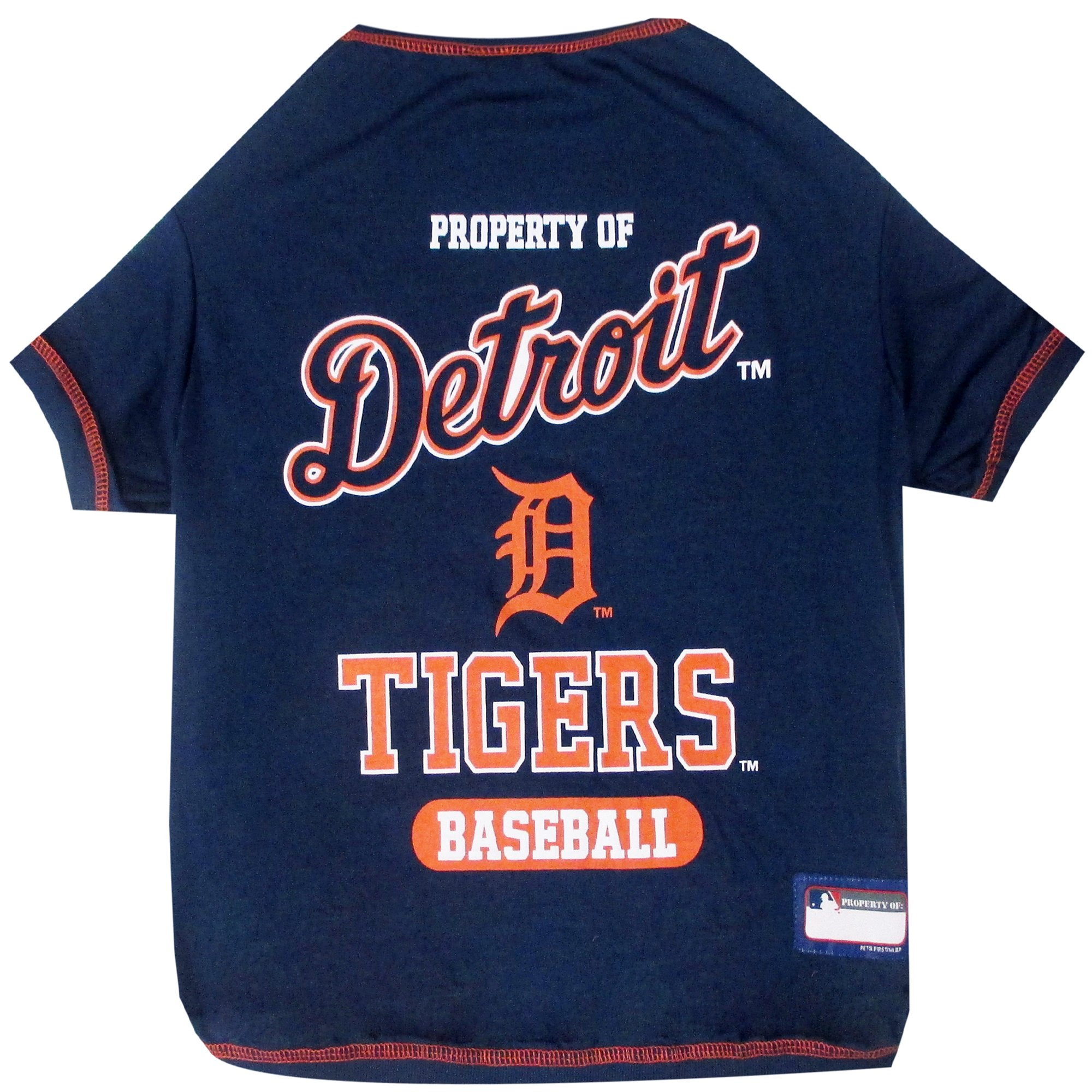 hot sale online 48407 42c31 Pets First Detroit Tigers T-Shirt, X-Small | Petco