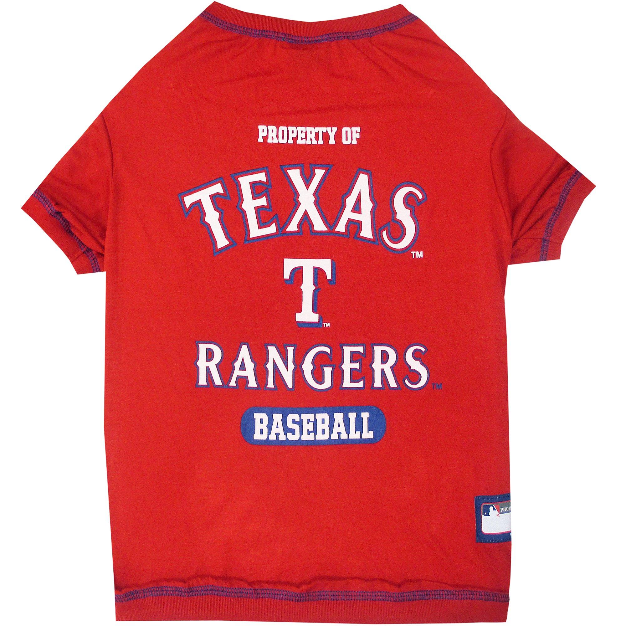 Pets first texas rangers t shirt petco for Texas tee shirt company