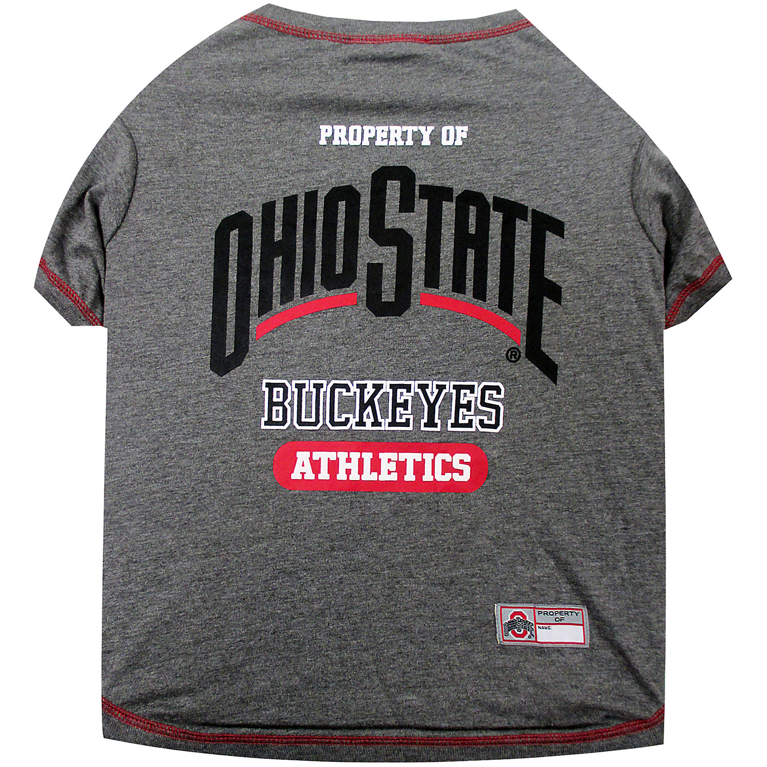 Pets First Ohio State Buckeyes Ncaa T-shirt For Dogs, Medium, Multi-color