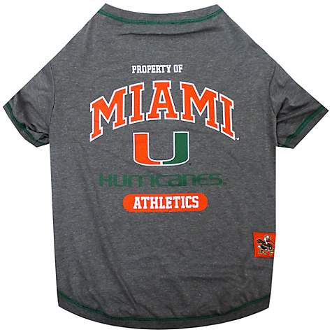 buy popular e8f7d e5565 Pets First Miami Hurricanes NCAA T-Shirt for Dogs, X-Small
