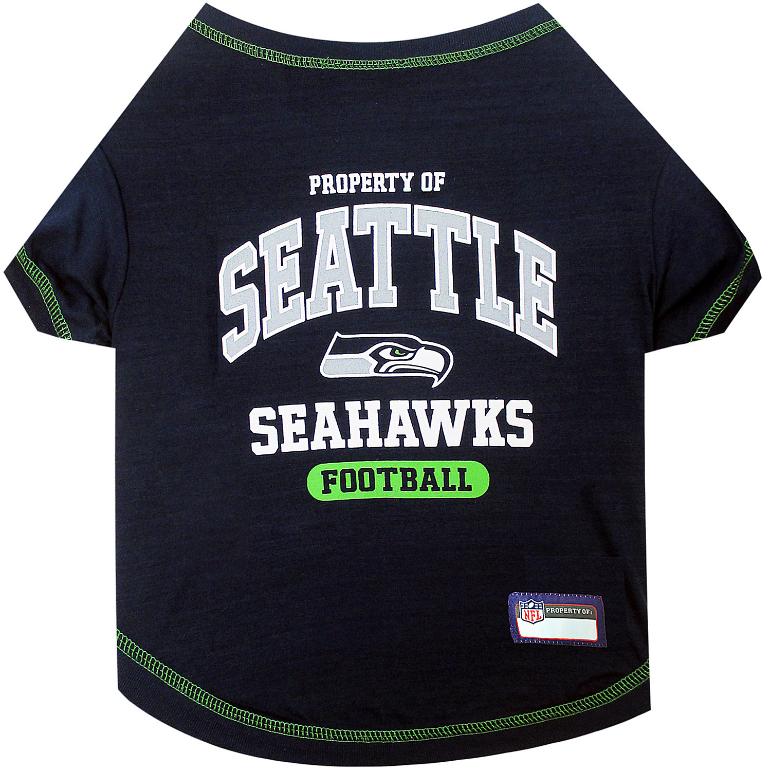 Pets First Seattle Seahawks T-shirt, X-small
