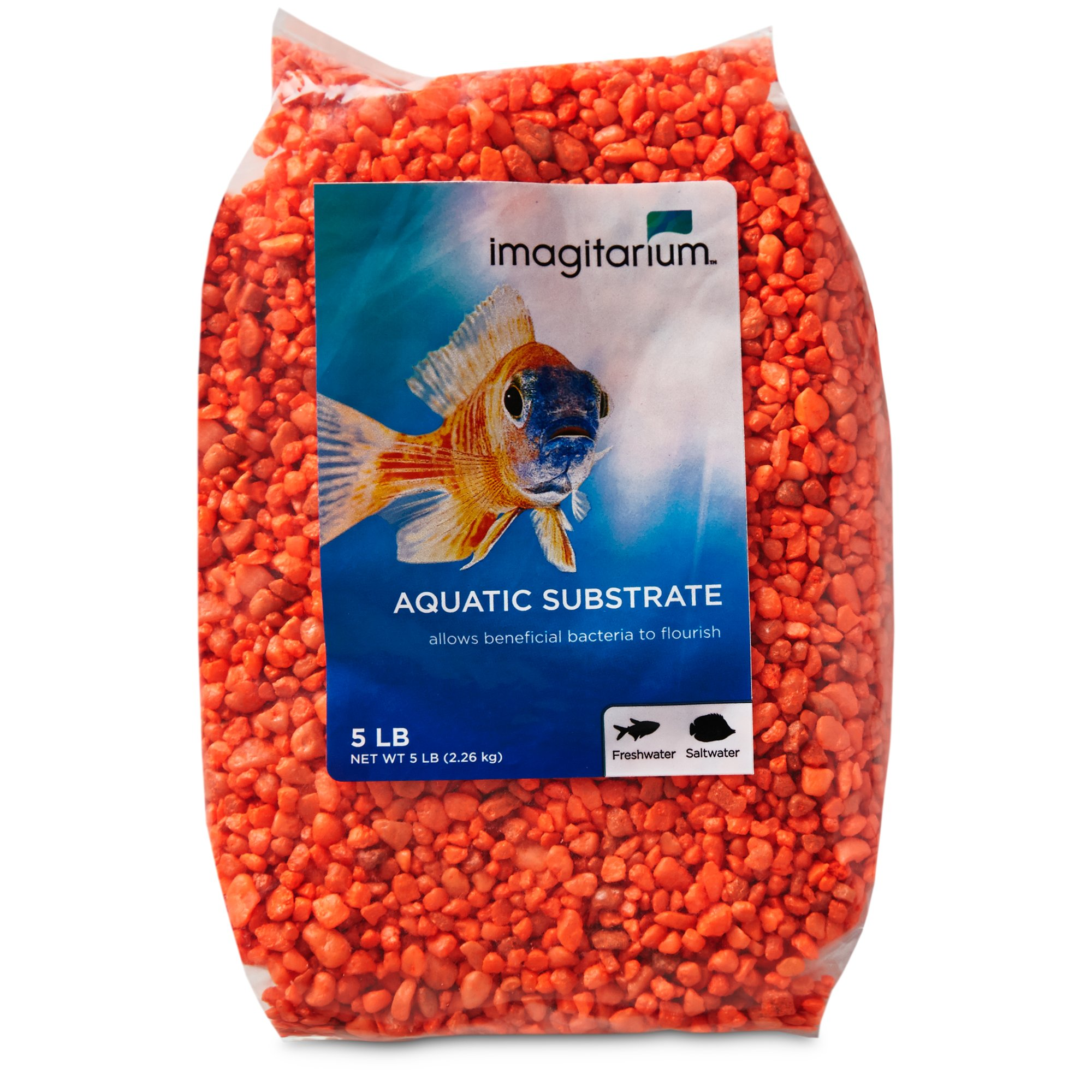 Imagitarium orange aquarium gravel petco for Petco fish for sale