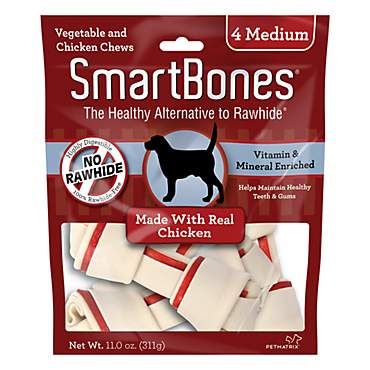 SmartBones NO-RAWHIDE Chicken Medium Dog Chews