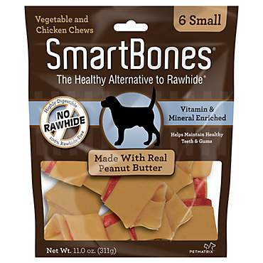 SmartBones NO-RAWHIDE Peanut Butter Small Dog Chews