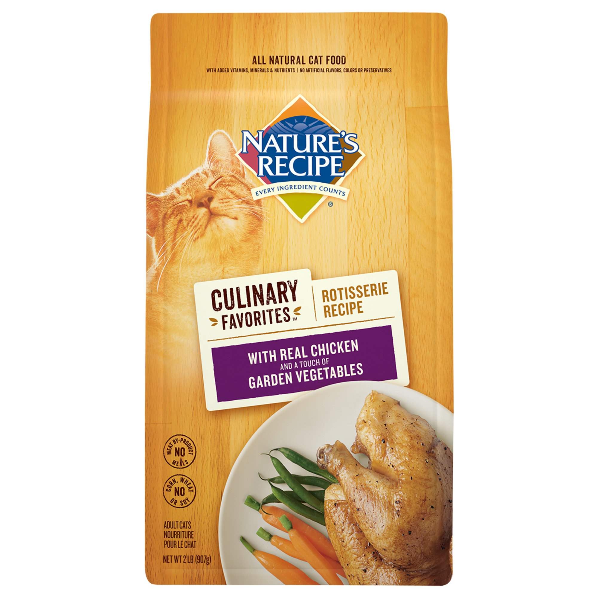 Nature's Recipe Culinary Favorites Rotisserie Chicken & Garden Vegetables Dry Cat Food