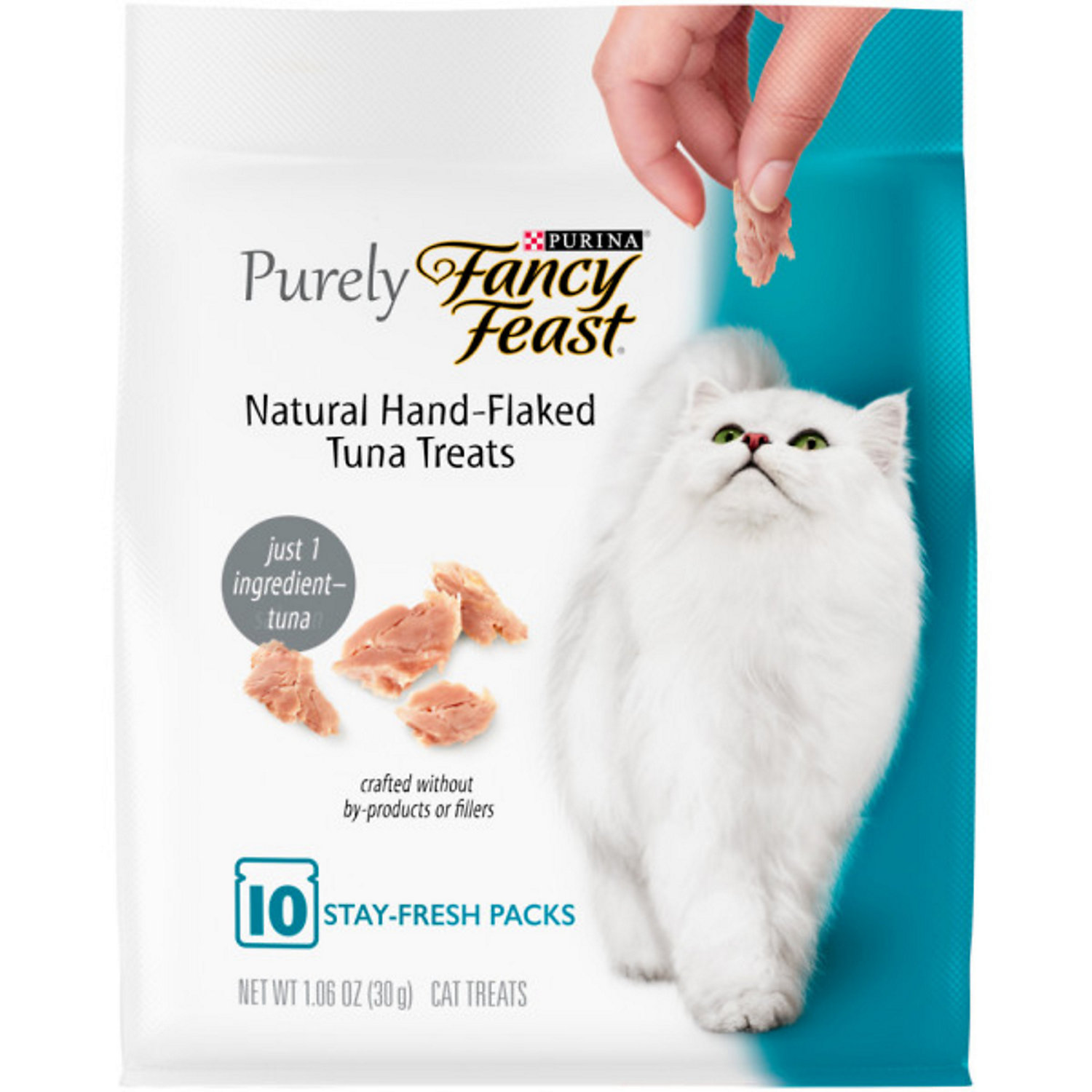 Purina Fancy Feast Purely Natural Hand-flaked Tuna Cat Treats, 1.06 Oz., 10 Pack