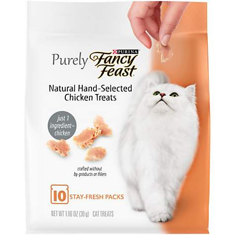 Purina Fancy Feast Purely Natural Hand-Selected Chicken Cat Treats