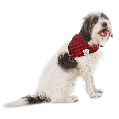 Bond Co Buffalo Checkered Dog Bandana For Neck Sizes 18 21 Large Extra