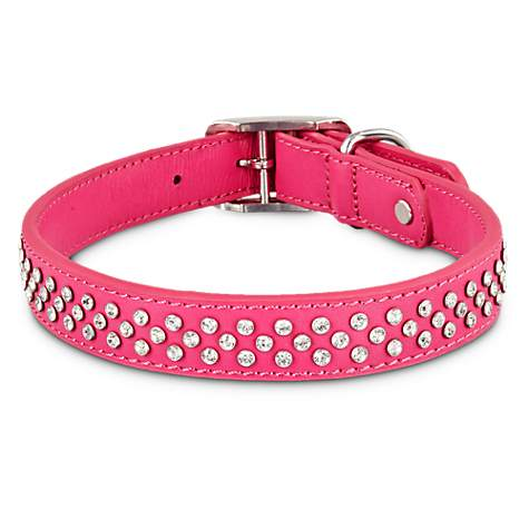 Bond & Co. Leather Bling Pink Collar
