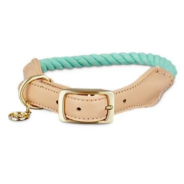 Bond & Co. Turquoise & Buff Rope Collar