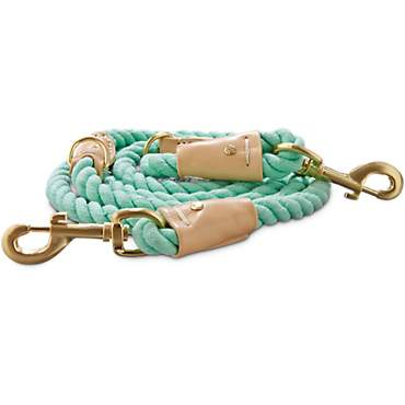 Bond & Co. Turquoise & Buff Rope Leash