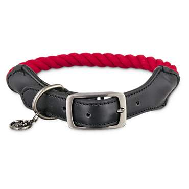 Bond & Co. Red & Black Rope Collar