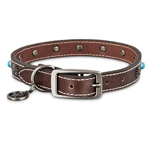 Bond & Co. Turquoise & Brown Leather Stud Collar