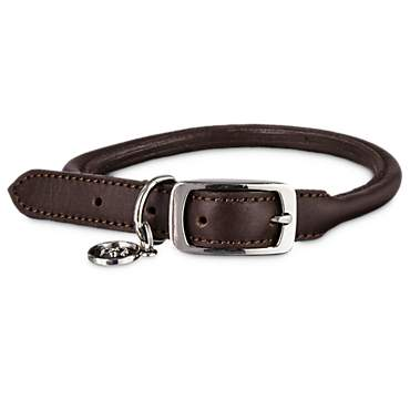 Bond & Co. Mahogany Rolled Leather Collar