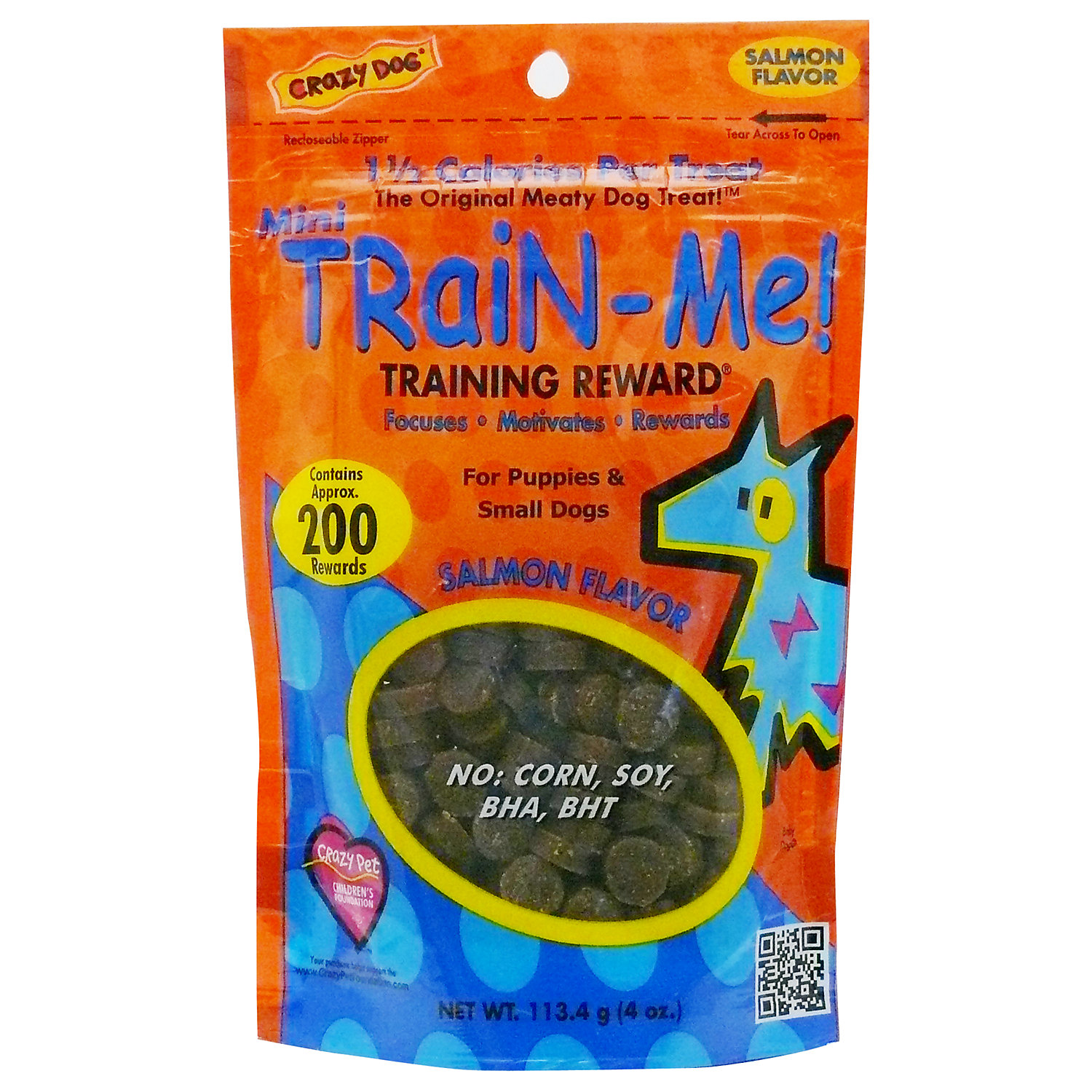 Crazy Dog Mini Train Me Salmon Dog Treats 4 Oz.
