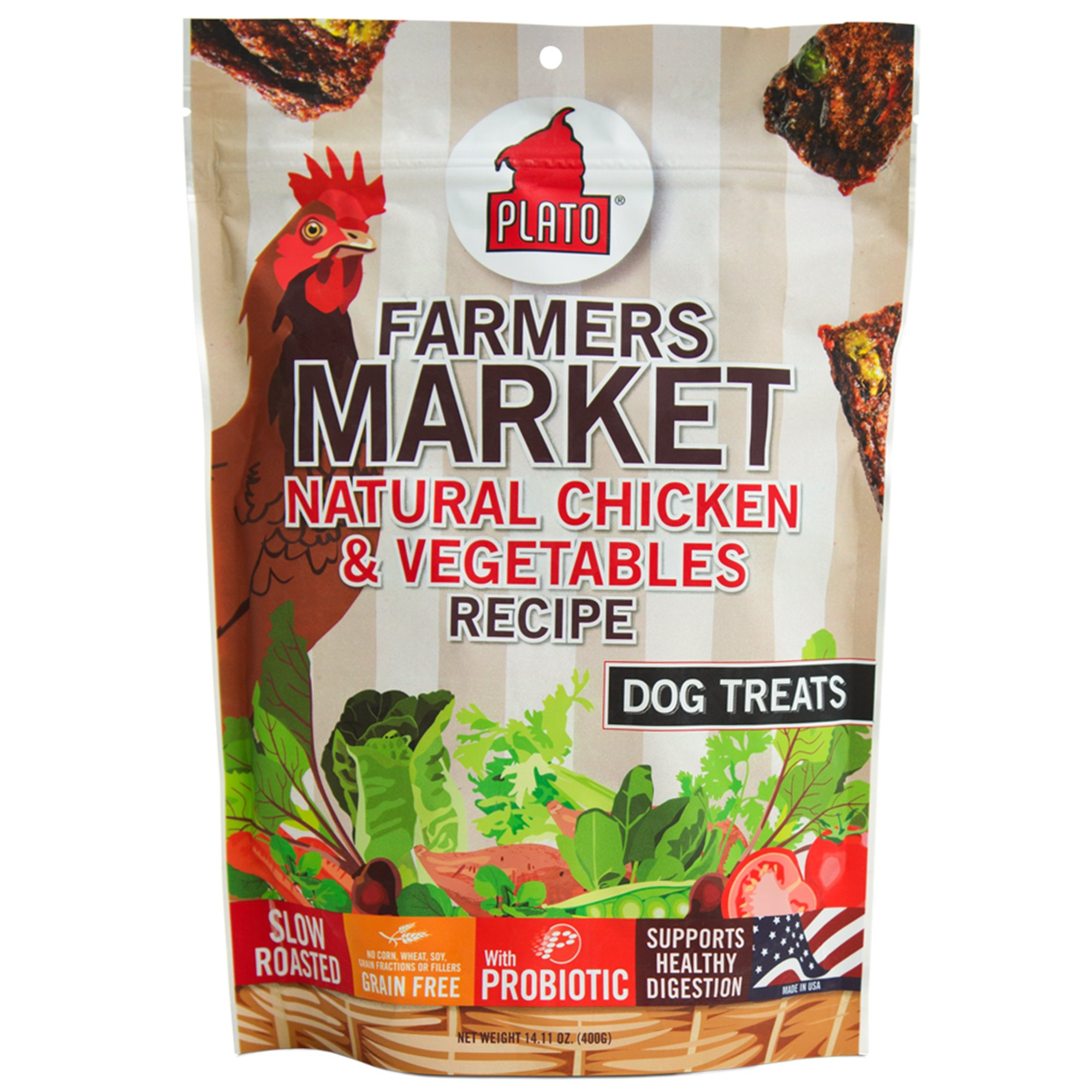 Plato Famer's Market Chicken & Vegetable Recipe Dog Treats