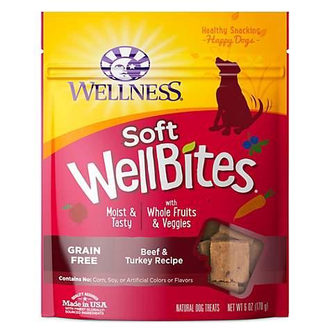 Soft Cat Food >> Wellness Natural Grain Free Wellbites Beef Turkey Recipe Soft Dog Treats 6 Oz