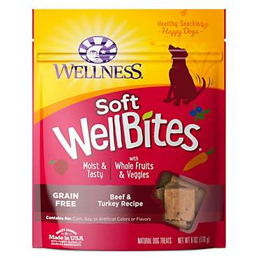 Wellness Natural Grain Free Wellbites Beef & Turkey Recipe Soft Dog Treats
