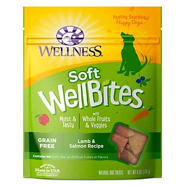 Wellness Natural Grain Free Wellbites Lamb & Salmon Recipe Soft Dog Treats