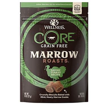 Wellness CORE Natural Grain Free Marrow Roasts Turkey Recipe Dog Treats