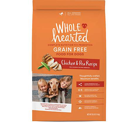 who makes wholehearted dog food