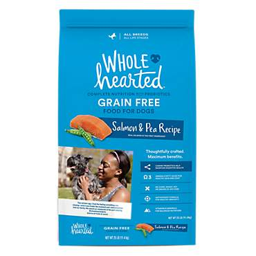 WholeHearted Grain Free All Life Stages Salmon and Pea Recipe Dry Dog Food