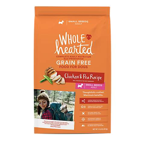 WholeHearted Grain Free Small Breed Adult Chicken and Pea Recipe Dry Dog Food