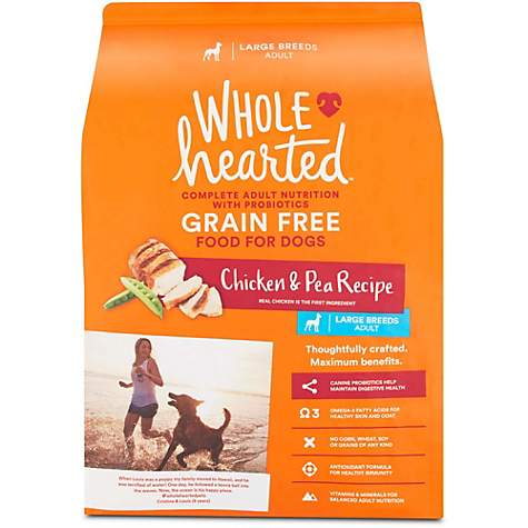 WholeHearted Grain Free Large Breed Adult Chicken and Pea Recipe Dry Dog Food