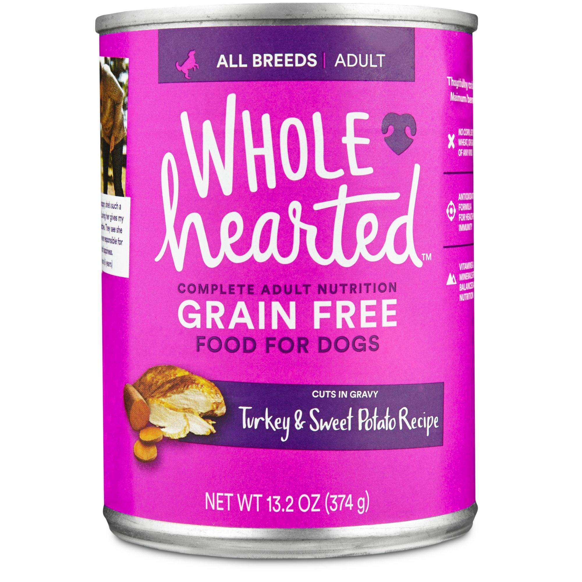 Wholehearted Grain Free Adult Turkey And Sweet Potato