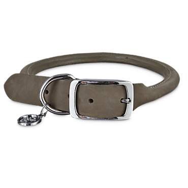 Bond & Co. Grey Rolled Leather Collar