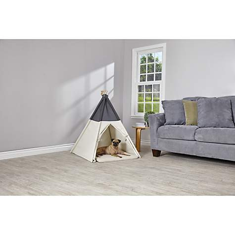 sc 1 st  Petco & Harmony Grey and Khaki Canvas Pet Teepee | Petco